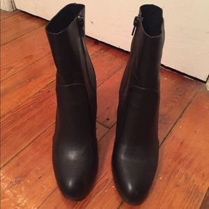 Black Leather Tight Ankle Boots | Poshmark